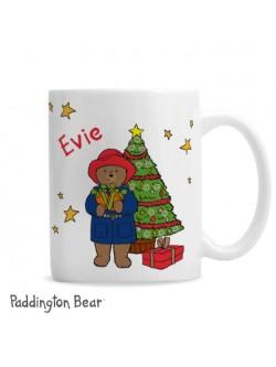 Personalised Paddington Bear Christmas Mug