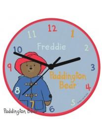 Personalised Paddington Bear Glass Clock