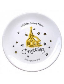 Personalised Bone China Christening Plate