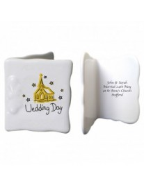 Wedding Day Bone China Message Card