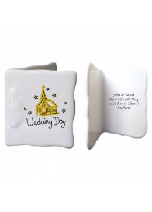 Wedding Day Gift Message : Home Wedding Day Bone China Message Card