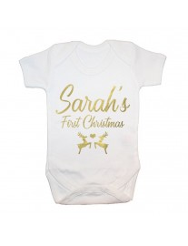 Personalised Baby's First Christmas Babygrow
