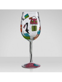 Lolita 'Shopaholic Too' Wine Glass