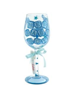 Lolita New Baby Boy Wine Glass