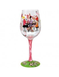 Lolita 'Girls Night In' Wine Glass