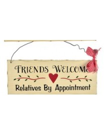 Friends Welcome Wall Plaque