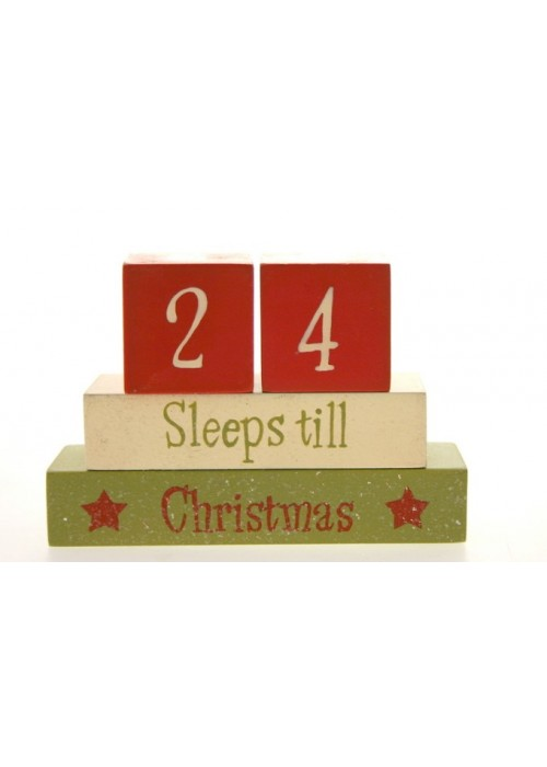 Days Till Christmas Uk.Best Christmas Countdown Wooden Blocks Gifts Countdown