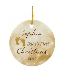Personalised 'My 1st Christmas' Ceramic Decoration
