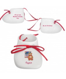 Bone China Bootee Bauble