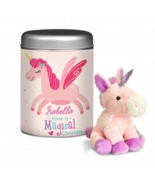 Personalised Magical Christmas Unicorn in Tin