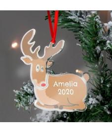 Rudolf The Red Nose Reindeer Metal Christmas Becoration