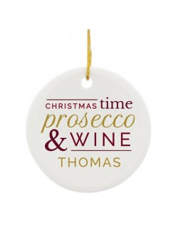 Personalised Prosecco & Wine Ceramic Decoration