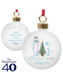 The Snowman 'My 1st Christmas' Bauble
