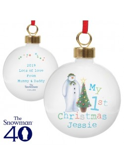 Personalised The Snowman 'My 1st Christmas' Bauble