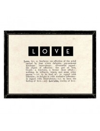 LOVE Dictionary Framed Print
