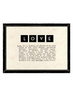 East of India LOVE Dictionary Framed Print