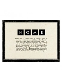 HOME Dictionary Framed Print