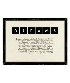 DREAMS Dictionary Framed Print