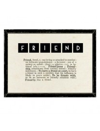 FRIENDS Dictionary Framed Print