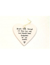 East of India Porcelain 'People Walk Through Our Lives' Heart (FREE POSTAGE)