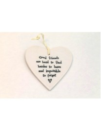 East of India 'Good Friends' Porcelain Heart