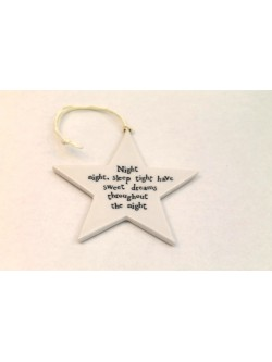 East of India Porcelain 'Night Night' Star