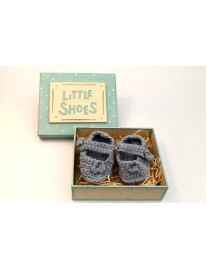 East of India Little Shoes in Box - Blue