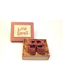 East of India Little Shoes in Box - Pink