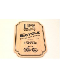 East of India 'Riding A Bicycle' Wooden Plaque