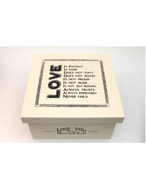 East of India Love Is Wooden Keepsake Box
