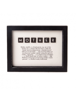 East of India MOTHER Dictionary Framed Print (FREE POSTAGE)