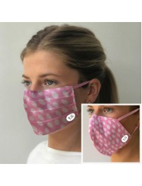 Set of Two Pink Polker Dot Facemasks