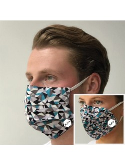 Set of Two Geometric Facemasks