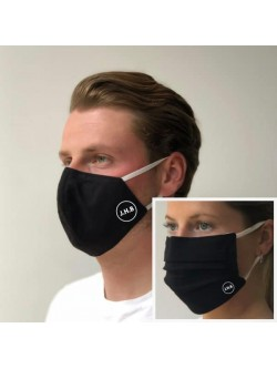 Set Of Two Black Facemasks