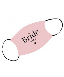 Personalised 'Bride' Face Covering
