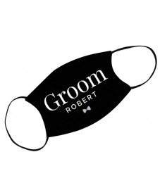 Personalised 'Groom' Face Covering