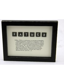 FATHER Framed Dictionary Picture