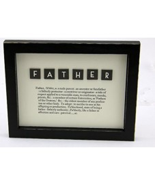 East of India FATHER Framed Dictionary Picture