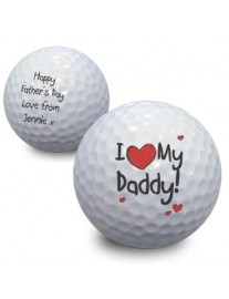 Personalised I Love My Daddy Golf Ball