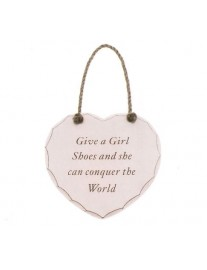 Give a Girl Shoes Plaque