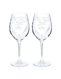 Hand Cut Diamante Wine Glasses with Swarovski Elements