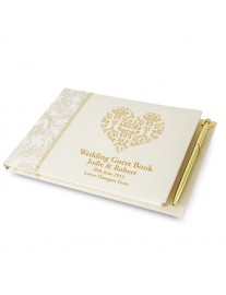 Ornate Swirl Guest Book & Pen