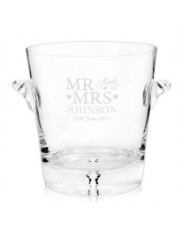 Personalised Glass Mr & Mrs Ice Bucket