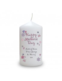 Happy Mothers Day Candle