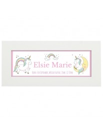Personalised Baby Unicorn Name Frame
