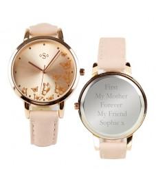 Personalised Ladies Rose Gold Watch