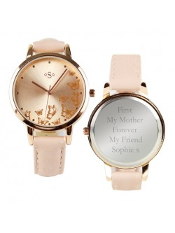 Personalised Ladies Rose Gold Watch