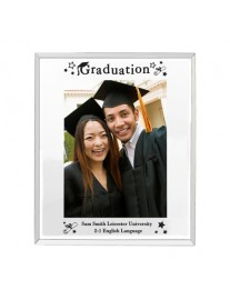 Personalised Mirrored Graduation Glass Photo Frame