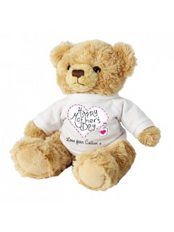 Personalised Mothers Day Message Teddy