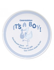 Personalised 'It's A Boy' China Plate